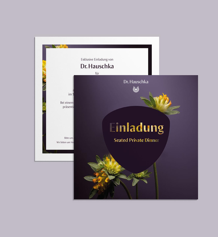 Dr. Hauschka Einladung - Projekt der Internetagentur NO TINS Gmbh