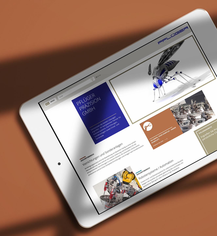 Pflüger Präzision - Projekt der Internetagentur NO TINS Gmbh