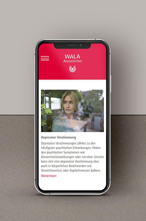 WALA Arzneimittel - Projekt der Internetagentur NO TINS Gmbh